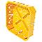 Boîte de dérivation à encastrer pour cloison sèche avec entrées et système de fermeture à vis DIALL 170x170x40 mm
