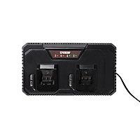 Chargeur de batterie rapide Erbauer 18V - pour 2 batteries