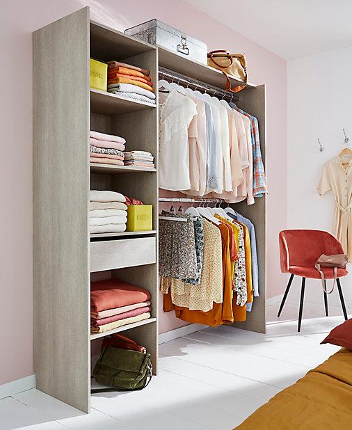 Kit Dressing Zenit Effet Chene Grise H 200 X L 180 X P 48 Cm Castorama