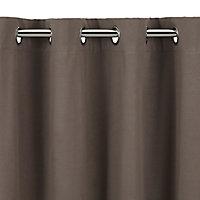 Set Rideau gris 200x200 cm + Tringle 176 cm