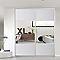 Porte de placard coulissante blanche miroir FORM Valla 77,2 x 250 cm