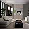 Porte de placard coulissante décor chêne gris miroir Form Valla 62,2 x 250 cm