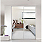 Porte de placard coulissante miroir blanc FORM Valla 77,2 x 250 cm