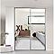 Porte de placard coulissante miroir argent FORM Valla 77,2 x 250 cm