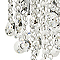 Plafonnier Summanus métal/verre chrome Ø 23 cm G9 160W