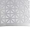 Plafonnier Aula métal/plast. chrome Ø 35,5 cm E27 60W