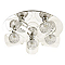 Plafonnier Carmenae métal/verre chrome Ø 38 cm G9 200W