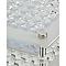 Plafonnier Quadra métal/verre transparent Ø 39 cm LED 9,5W