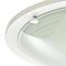 Plafonnier Hubaa métal/verre blanc Ø 29 cm E27 60W