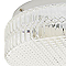Plafonnier Oreste métal/verre blanc Ø 24,5 cm E27 42W
