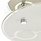 Plafonnier Janus métal/verre chrome Ø 21,5 cm GU10 150W
