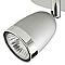 Plafonnier 3 spots Apheliotes métal argent GU10 3x35 W