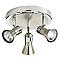 Plafonnier 3 spots Aphroditus métal chrome brossé GU10 3x50 W