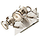 Réglette 2 spots Arachrne métal nickel GU10 2x50 W