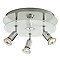 Plafonnier 4 spots Arethusa métal chrome GU10 4x50 W