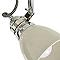 Plafonnier 3 spots Hippolyta métal ivoire E14 3x28 W