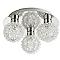Plafonnier 3 spots Phaidros métal chrome G9 3x25 W