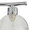 Réglette 2 spots Onnes métal/verre chrome G9 2x25 W