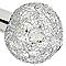 Plafonnier 3 spots Bronte métal/verre chrome G9 3x25 W