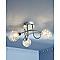 Plafonnier 3 spots Paralia métal/verre chrome G9 3x25 W
