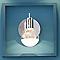 Spot patère Panacea métal/verre chrome LED 6 W
