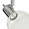 Réglette 4 spots Panacea métal/verre chrome LED 4x5 W