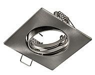 Anneau carré pour spot à encastrer LED Colours Ares métal chromé brossé Ø8,5 cm