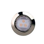 3 spots à encastrer LED IP20 chrome Ø9 cm