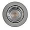 Spot à encastrer métal chrome Ø 8,5 cm GU10 50 W