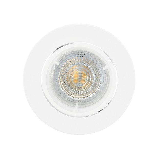 3 Spots A Encastrer Colours Caius Ip20 Blanc O8 5 Cm Castorama