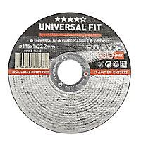 Disque de coupe métal/inox Universel 115x1x22,2mm