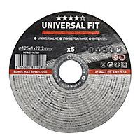 Disque de coupe métal 125x1x22,2mm Universel - 5pièces