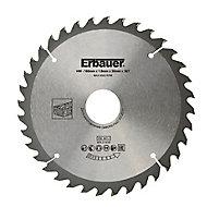 Lame de scie circulaire Bois Erbauer Ø160 x30/20/16 coupe moyenne 36 dents