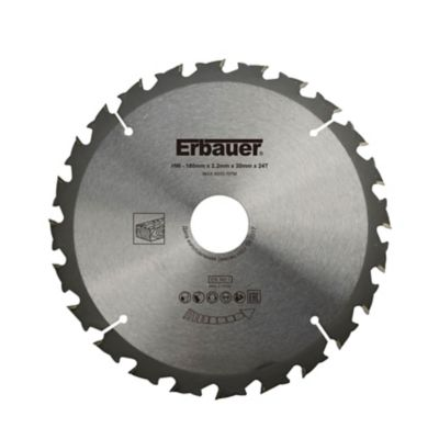 Lame de scie circulaire Bois Erbauer Ø180 x30/20/16 coupe grossière 24 dents