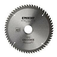 Lame de scie circulaire Bois Erbauer Ø184 x30/20/16 coupe fine 60 dents
