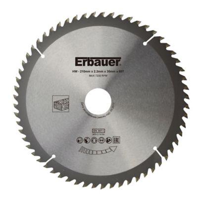 Lame de scie circulaire Bois Erbauer Ø210 x30/25/20/16 coupe fine 60 dents