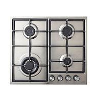 Plaque de cuisson au gaz Cooke & Lewis CLGASFSRP4, 4 foyers