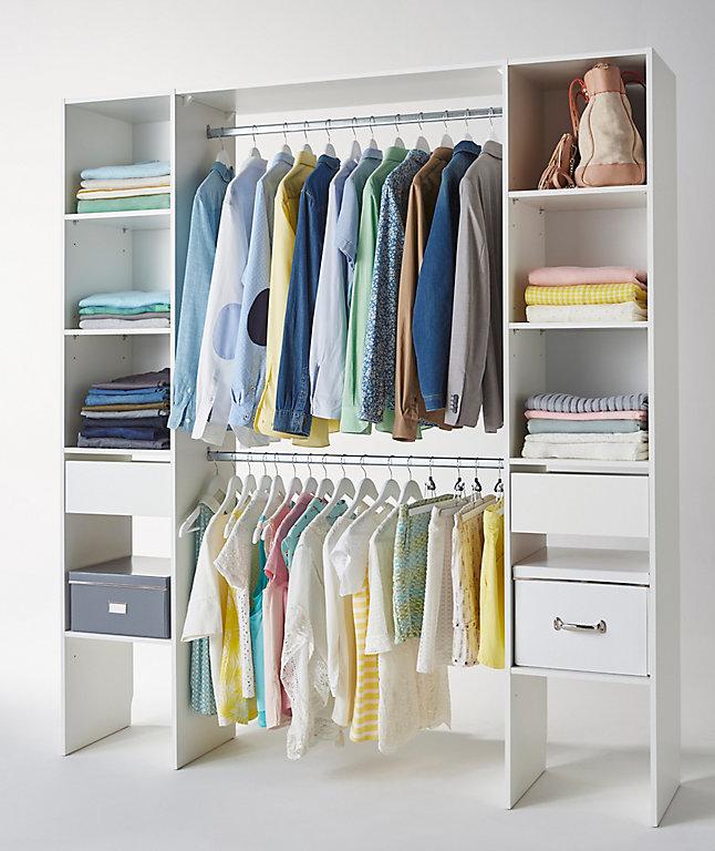 Kit Dressing Coloris Blanc H 200 X L 180 X P 40 Cm Castorama