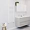 Sèche-serviettes eau chaude Blyss blanc 490W