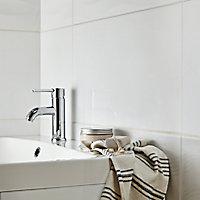 Carrelage mur blanc 30 x 60 cm Perouso