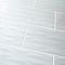 Carrelage mur décor vague blanc 30 x 60 cm Perousa (vendu au carton)