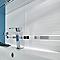 Carrelage mur décor blanc 25 x 40 cm Salerna (vendu au carton)