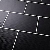 Carrelage mur noir 25 x 40 cm Salerna