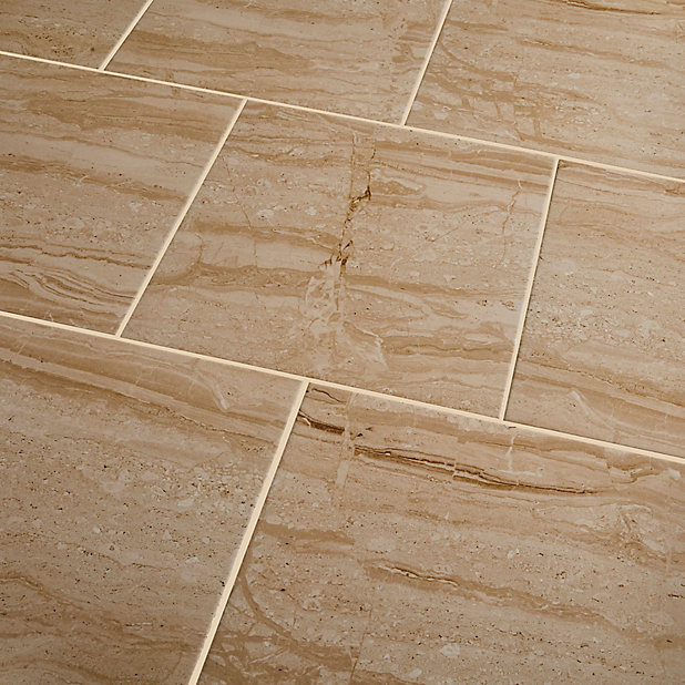 Carrelage Sol Beige 40 X 40 Cm Travertina Castorama