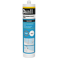 Mastic silicone sanitaire Diall blanc 300ml
