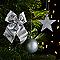 Assortiment de décorations de Noël argentées, 100 pièces