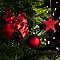 Assortiment de décorations de Noël rouges, 100 pièces
