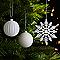 Assortiment de décorations de Noël blanches, 50 pièces