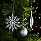 Assortiment de décorations de Noël argentées, 50 pièces