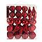 Assortiment de décorations de Noël rouges, 50 pièces